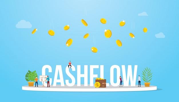 Concetto di business di flusso di cassa