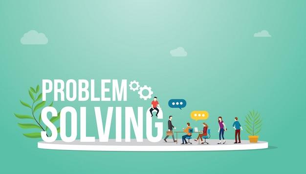 Concetto di business di problem solving