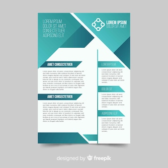 Concetto di business flyer