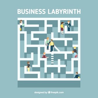 Concetto di business labyrinth con stile moderno
