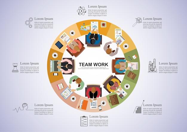 Concetto di business per il lavoro di squadra.