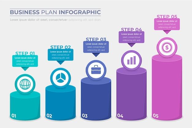 Concetto di business plan infografica