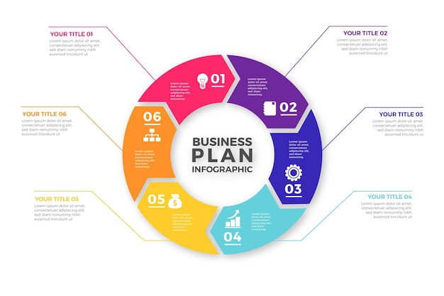 Concetto di business plan infografica