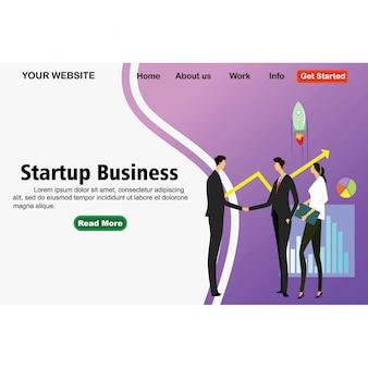 Concetto di business startup