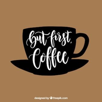 Concetto di caffè creativo con lettering