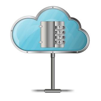 Concetto di calcolo della nuvola di sicurezza