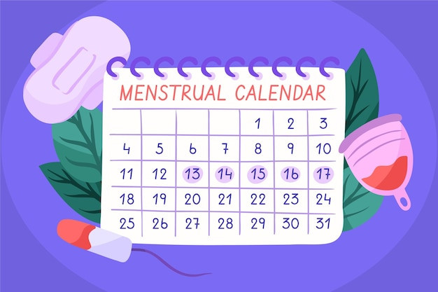 Concetto di calendario mestruale