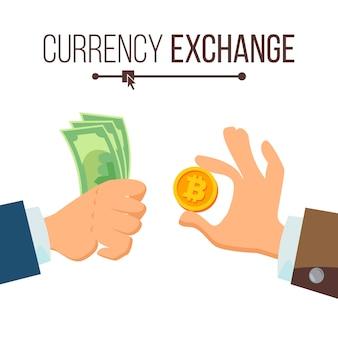 Concetto di cambio valuta denaro