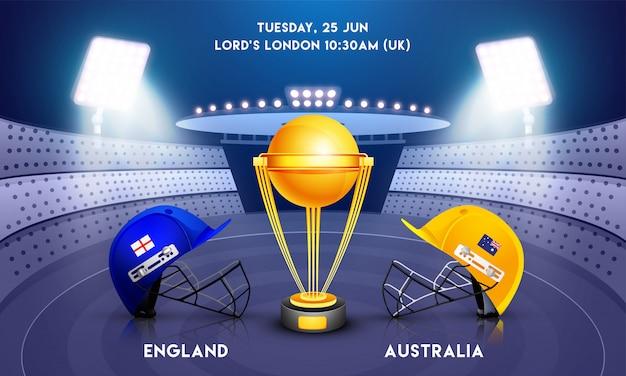 Concetto di campionato del mondo di cricket.