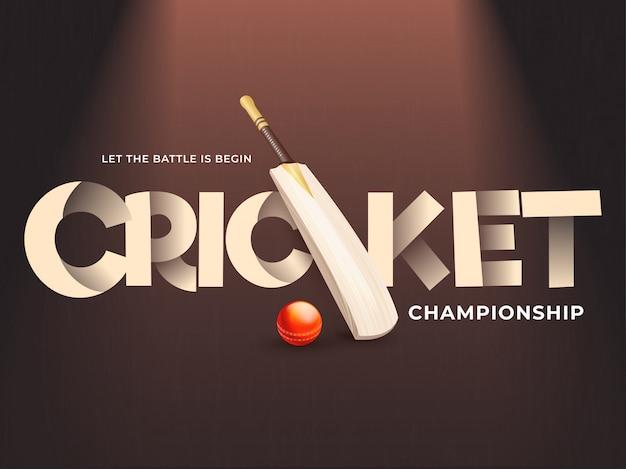 Concetto di campionato di cricket.