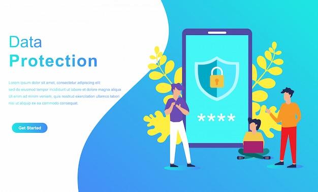 Concetto di carattere del sistema di protezione dei dati