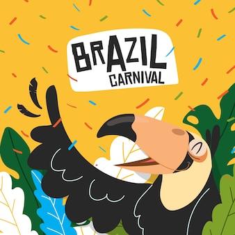 Concetto di carnevale brasiliano design piatto