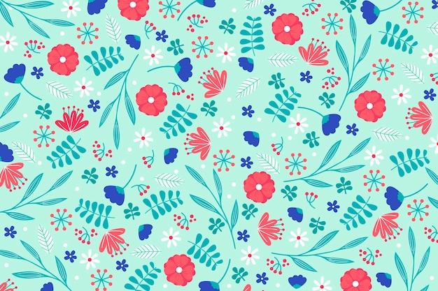 Concetto di carta da parati colorata stampa floreale ditsy