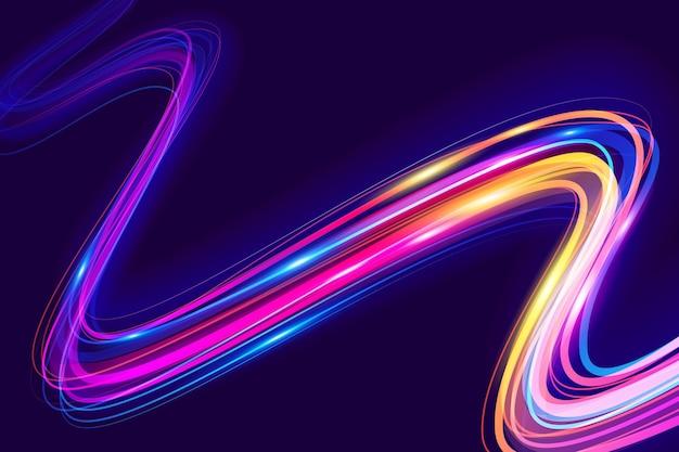 Concetto di carta da parati luci al neon