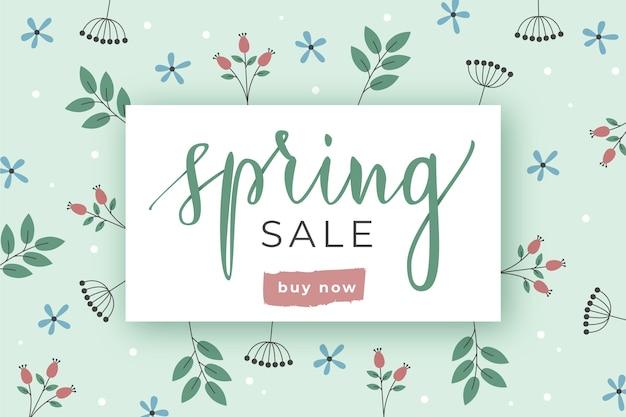 Concetto di carta da parati vendita primavera piatta