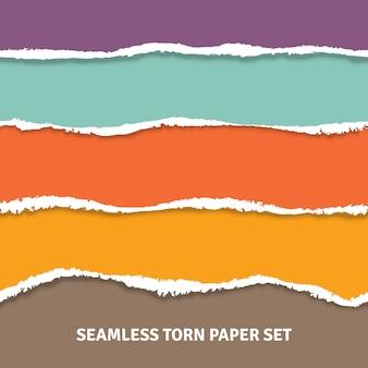 Concetto di carta strappata senza soluzione di continuità