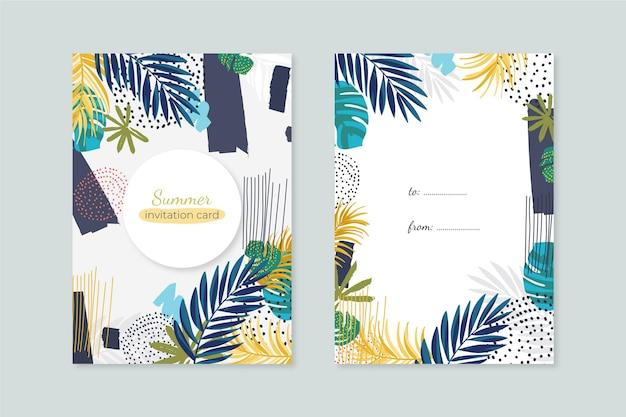 Concetto di carte tropicali astratte