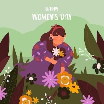 Concetto di celebrazione del giorno delle donne design piatto
