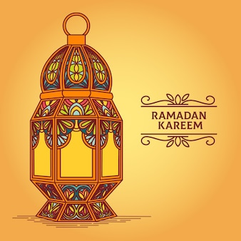 Concetto di celebrazione del ramadan disegnati a mano