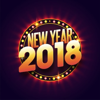 Concetto di celebrazioni del nuovo anno 2018