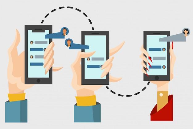 Concetto di chat e messaggi