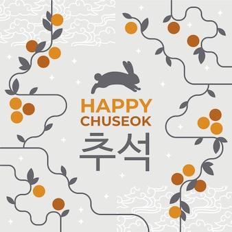 Concetto di chuseok design piatto