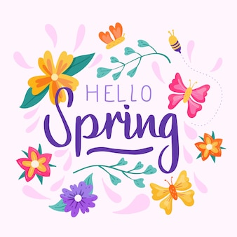 Concetto di ciao primavera