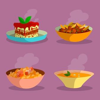 Concetto di cibo comfort