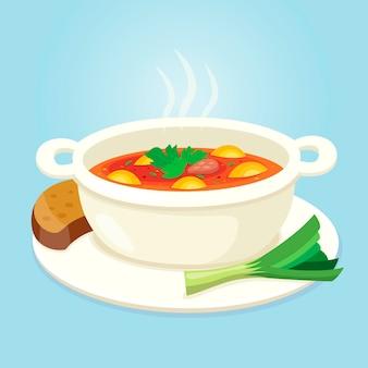 Concetto di cibo delizioso comfort