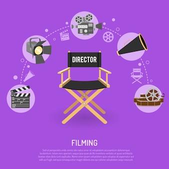 Concetto di cinema e riprese