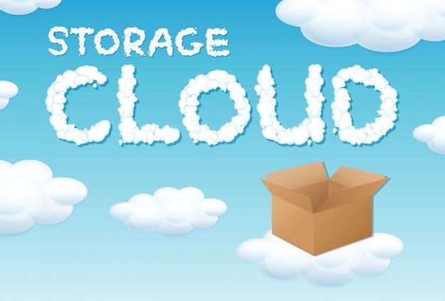 Concetto di cloud box di archiviazione