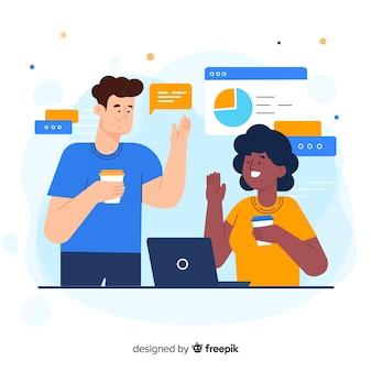 Concetto di collaboratori per landing page