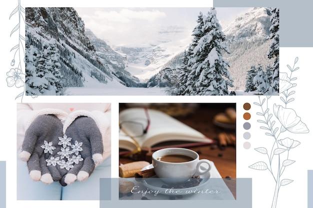 Concetto di collage di foto