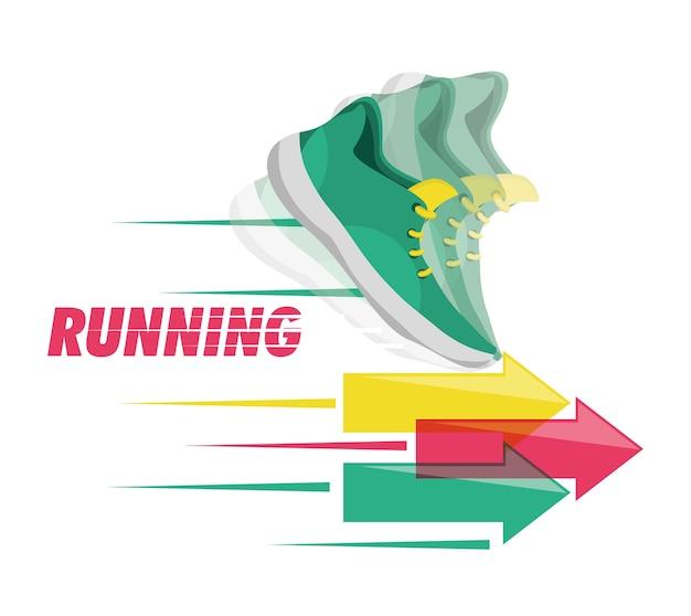 Concetto di competizione sportiva scarpe da corsa