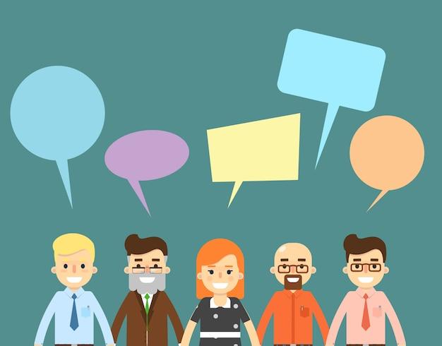 Concetto di comunicazione in chat con le persone