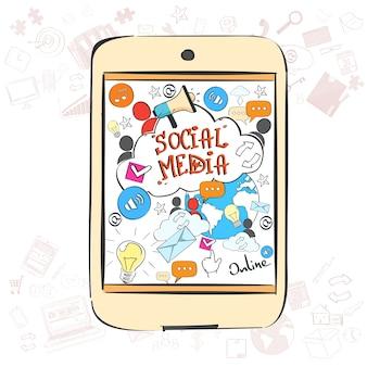 Concetto di comunicazione sociale dei media