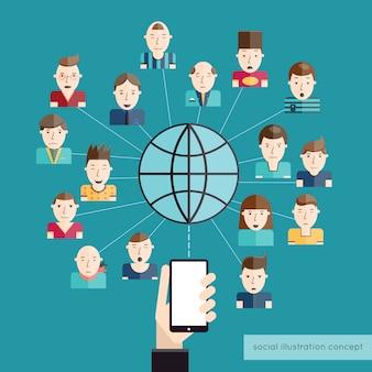 Concetto di comunicazione sociale