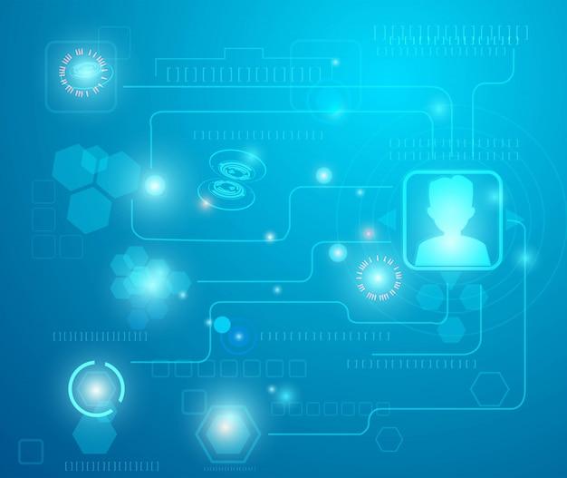 Concetto di comunicazione tecnologia astratto sfondo vettoriale