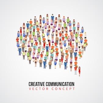 Concetto di comunicazione vettoriale