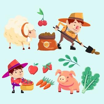 Concetto di concetto di agricoltura biologica