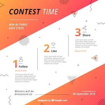Concetto di concorso di media sociali