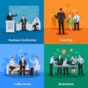 Concetto di conferenza d'affari. incontro d'affari