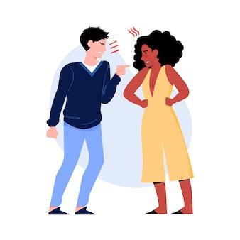 Concetto di conflitti di coppia
