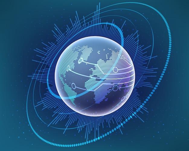 Concetto di connessione di rete internet globale.
