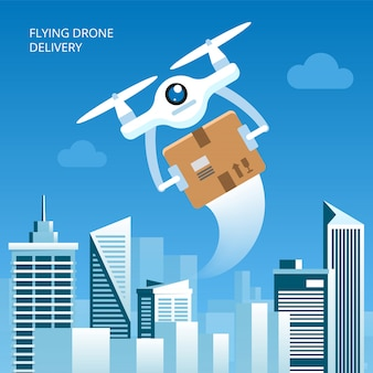 Concetto di consegna del drone