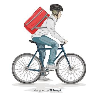 Concetto di consegna della bicicletta