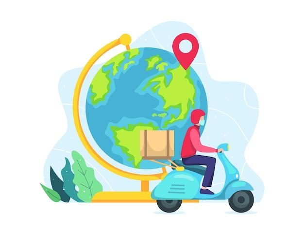 Concetto di consegna in tutto il mondo