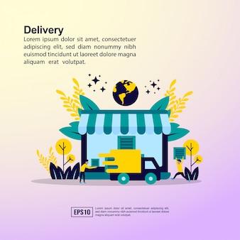 Concetto di consegna online
