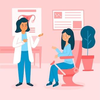 Concetto di consultazione ginecologica