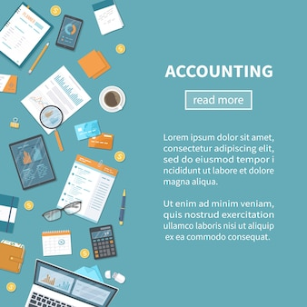 Concetto di contabilità. calcolo fiscale.